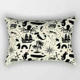 High Seas Adventure // Yellow Rectangular Pillow