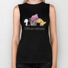 Love is just like eating large amounts of cupcake. Biker Tank