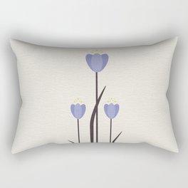 Minimal Bluebells Rectangular Pillow