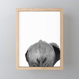 Elephant Butt, Black and White African Animal Framed Mini Art Print