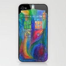Tie Dye Tardis- Doctor Who iPhone & iPod Skin