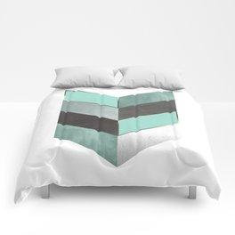 Chevron Geometric 1 Comforters