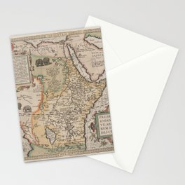 Vintage Map Print - Abraham Ortelius - Map of Eastern Africa (1580) Stationery Cards