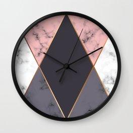 Marble Geometry 018 Wall Clock
