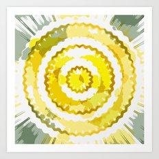 Digital and sunny Art Print