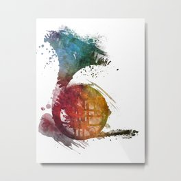 French horn Metal Print