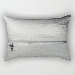 surfer on solana beach, san diego, california Rectangular Pillow