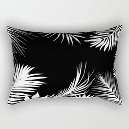 Palm Leaves In Black And White Rectangular Pillow