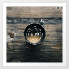 Get the creativity flowing #society6 Art Print