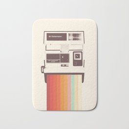 Instant Camera Rainbow Bath Mat