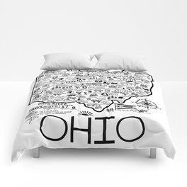 Ohio Map Comforters