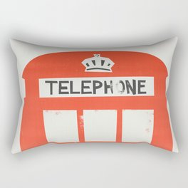 Red London Telephone Box Rectangular Pillow