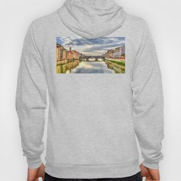 Arno River and Ponte Vecchio, Florence Hoody