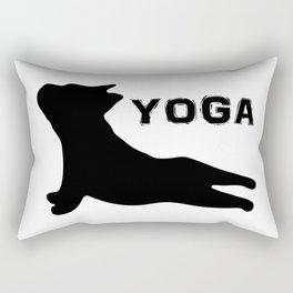 Cute French Bulldog. Yoga Puppy Rectangular Pillow