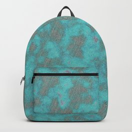 Abstract modern gray teal watercolor paint pattern Backpack