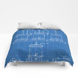 Beer Patent - Brewing Beer Art - Blueprint Comforters