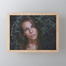 Beautiful Woman With Blue Eyes Framed Mini Art Print