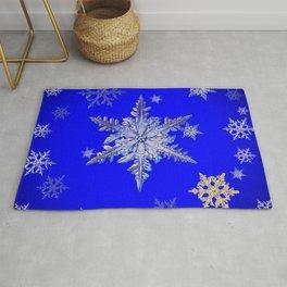 """MORE BLUE SNOW"" BLUE WINTER ART DESIGN Rug"