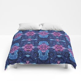 Indigo Bloom Comforters