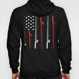 Fishing Pole American Flag Hoody