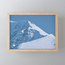 Winter Mountains in Glacier Blue - Alaska Framed Mini Art Print