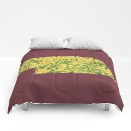 Nebraska in Flowers Comforters