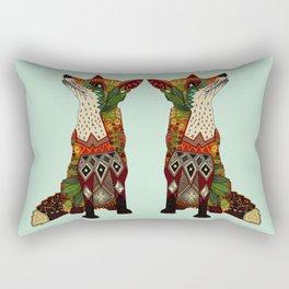 fox love mint Rectangular Pillow