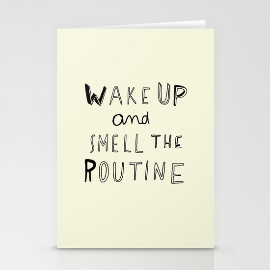 WAKE UP Stationery Cards