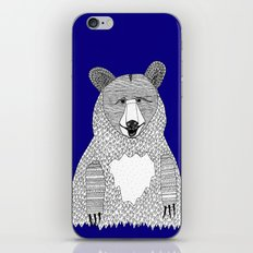 Blue Bear iPhone & iPod Skin