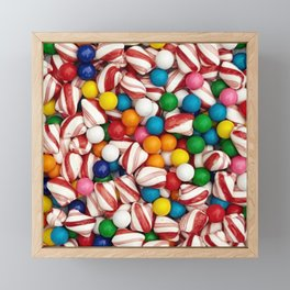 Peppermints and Gumballs Framed Mini Art Print