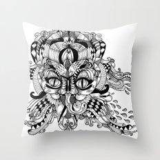 Mask Face Throw Pillow