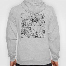Geometric himmeli ornaments as minimal seamless pattern Hoody