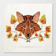 fox autumn Canvas Print
