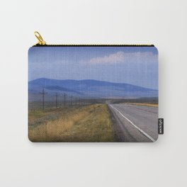 Montana Roadway running through the  Mountain Foothills Carry-All Pouch