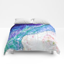 Sleeping Mermaid - Ocean Colors Comforters
