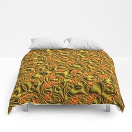 golden metall pattern Comforters