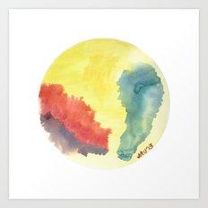Watercolour 01 Art Print