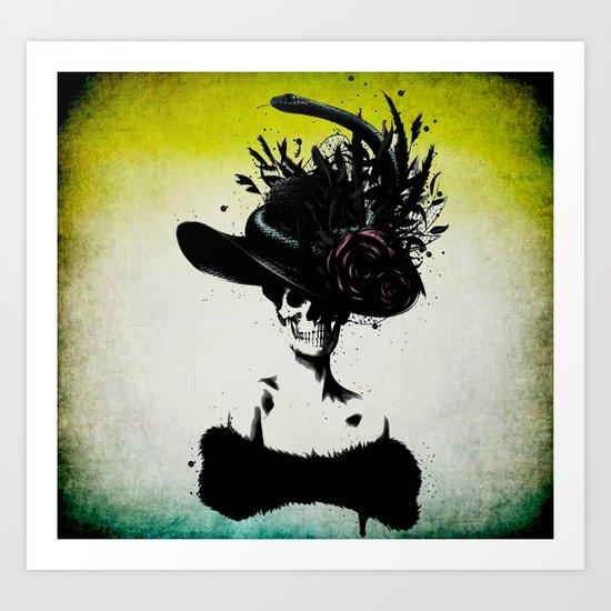 mrs skeleton Art Print