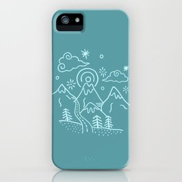 Mountains So Blue iPhone Case