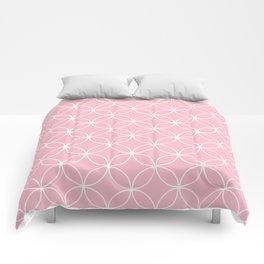 Crossing Circles - Pink Lemonade Comforters