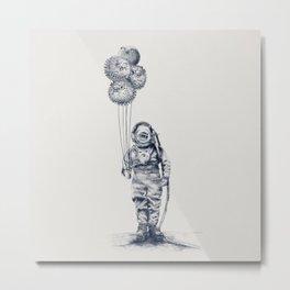 Balloon Fish - monochrome option Metal Print