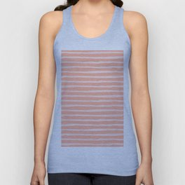 Sweet Life Thin Stripes Peach Coral Pink Unisex Tank Top