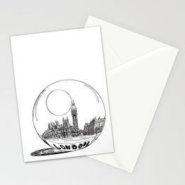 London in a glass ball . art Stationery Cards