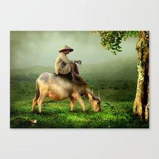 Resting Shepherd Canvas Print