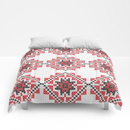 traditional icon pixel Comforters