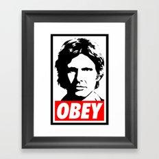 Obey Han Solo - Star Wars Framed Art Print
