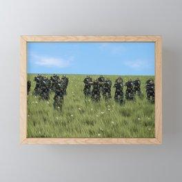 Foreboding | A Golden Invasion Framed Mini Art Print