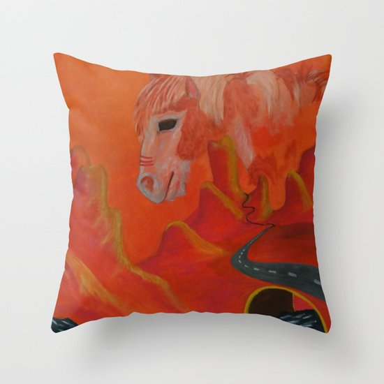 Horse Without a Name Throw Pillow