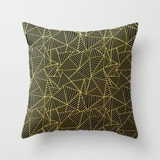Ab 2 R Black and Gold Throw Pillow