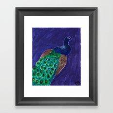 Peacockin' Framed Art Print